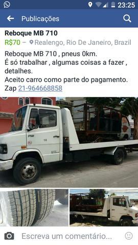 Mb 710 reboque plataforma prancha - Caminhões, ônibus e vans - Realengo, Rio de Janeiro   OLX