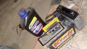 Casco de bateria,rádio Panasonic para carro com controle 1 vidro de óleo Ipiranga 20w  - Carros - Campo Grande, Rio de Janeiro  | OLX